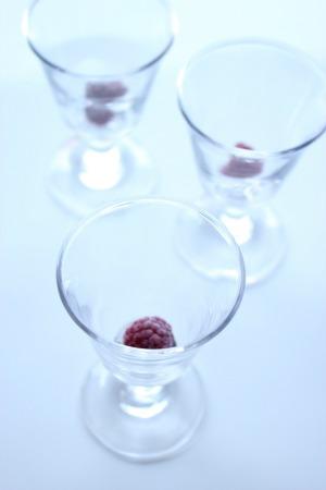 グラスとフランボワーズ