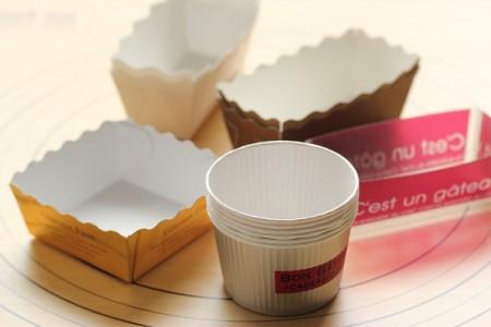 紙の型-カップケーキ型・ミニパウンド型