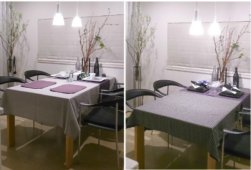 テーブルクロス紫