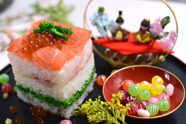 ひなまつりに♡牛乳パックで簡単!菱の押し寿司の作り方