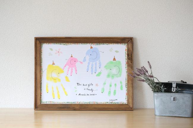 可愛くおしゃれに成長記録♡子供も喜ぶ手形アートの楽しみ方♡